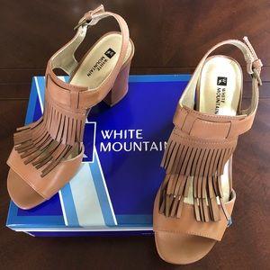 White Mountain Fringe Sandals - Size 9 1/2